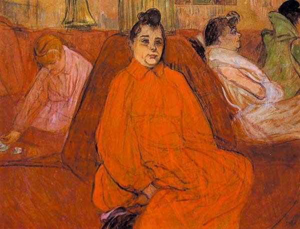 Henri-de-Toulouse-Lautrec,-At-the-Salon-the-Divan