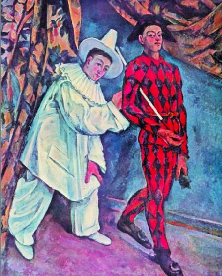 Paul-Cezanne,-Pierrot-Si-Arlechin-