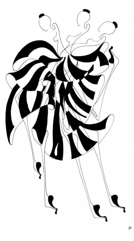 4.-PLURALITY,-colectie-Ballerina,-tehnica-penita-si-pensula-cu-cerneala-acrilica