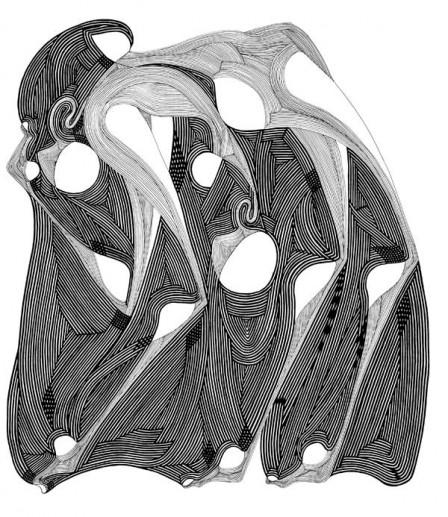 5.STRUGGLE,-colectie-Amalgam-of-the-Soul,-tehnica-penita-si-pensula-cu-cerneala-acrilica