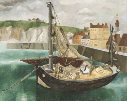 a-fishing-boat-in-dieppe-harbour-1929