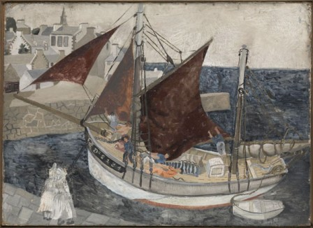 boat-in-harbour-brittany-1929
