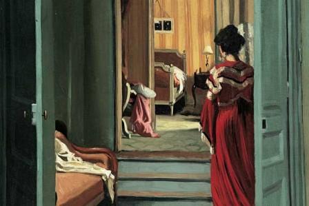 valloton-femeie-in-rosu-in-interior-1903